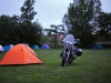 Saavuin Lyypekkiin myöhään illalla joten eiku teltta pystyyn ja maate